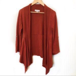 Knox Rose • Burnt Orange bell sleeve cardigan